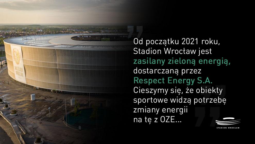 Stadion Wrocław zasili zielona energia od Respect Energy!